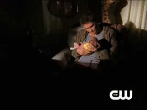 Luke holding Sawyer