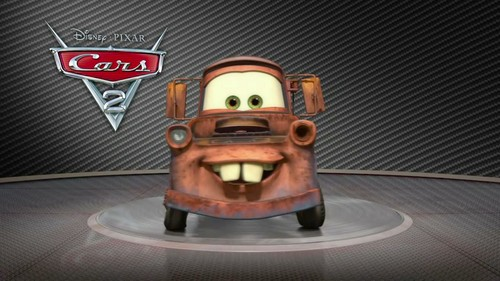 Disney Pixar Cars 2 Hintergrund with a totem pole entitled Mater Pic