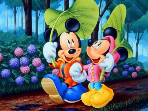Mickey souris + Minnie souris