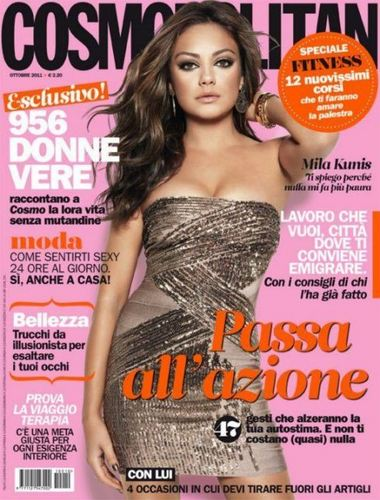 Mila Kunis for Cosmopolitan Italia October 2011