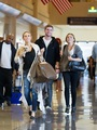 Miley - At LAX Airport with Liam, Tish & Billy raio, ray - September 27, 2011