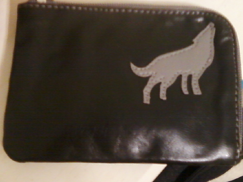 My little gray wolf wallet