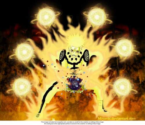 Naruto (nine tails chakra mode) - uzumaki-naruto-shippuuden Photo