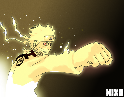 Uzumaki Naruto (Shippuuden) wallpaper possibly with anime titled Naruto (nine tails chakra mode)
