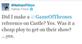 Nathan Fillion @ twitter - game-of-thrones photo