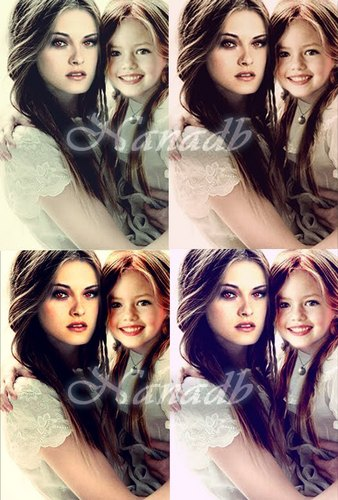 Newborn Vampire bella and hybrid nessie