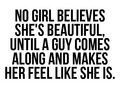 No Girl Believes Shes Beautiful Until... 100% Real ♥