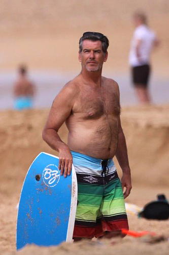 PIERCE BROSNAN SHIRTLESS 10