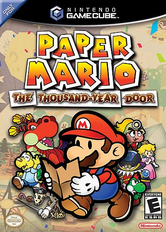 Paper Mario and TTYD karatasi la kupamba ukuta possibly with anime entitled Paper Mario: The Thousand-Year Door