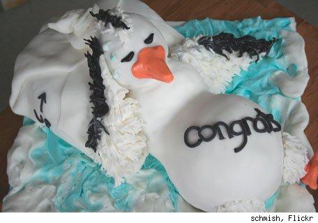 Pregnant Bird Cake