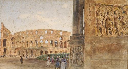 R. Alt (1812 -1905) - Das Colosseum.