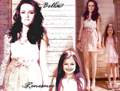 Renesmee and her mommy