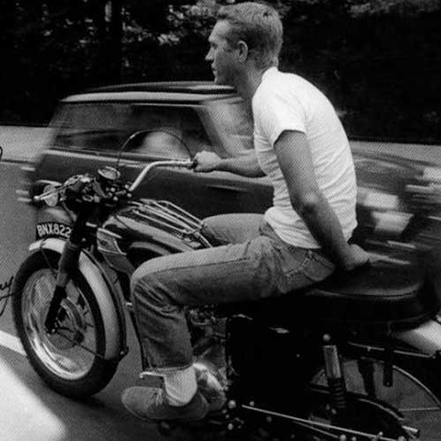 Steve McQueen wallpaper probably containing a motorcycle cop and a motociclista titled Ride