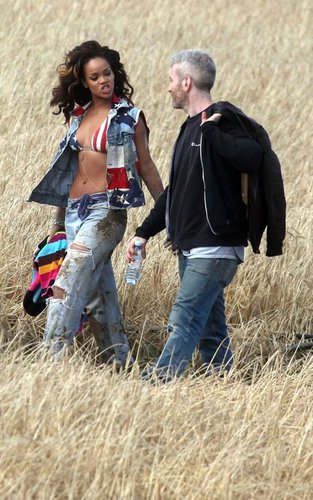 """rihanna shooting her """"We Found Love"""" video in County Down, Northern Ireland"""