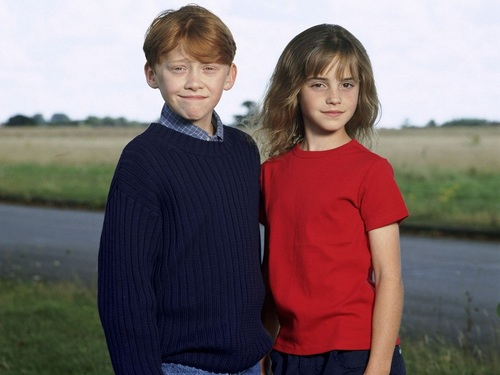 Ron and Hermione 바탕화면