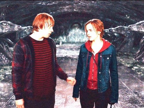 Ron and Hermione fondo de pantalla