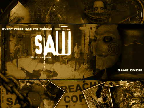 Horror legends wallpaper probably containing a sign and a jalan, street titled Saw