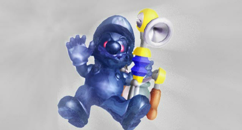 Shadow Mario stealing FLUDD