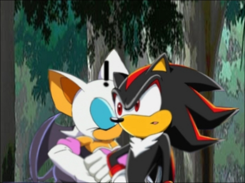 Shadow and Rouge キッス on cheek