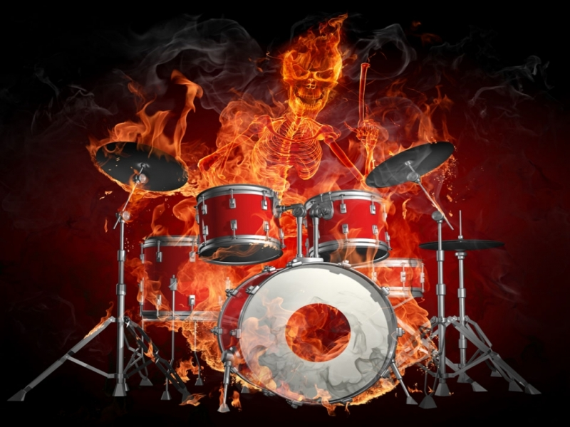 Gavin Randy S Music Taste Images Skully Playing Drumset Hd