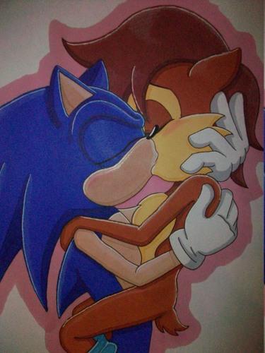 Sonic and sally चुंबन