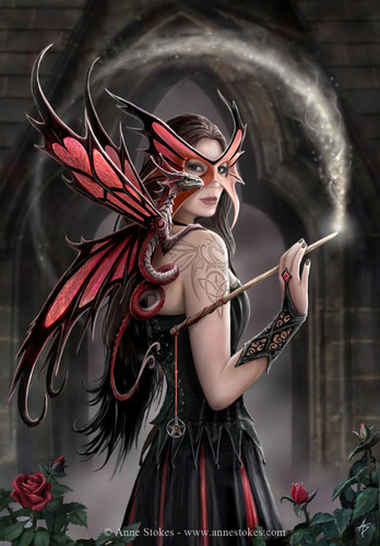 Anne Stokes Hintergrund called Spellbound