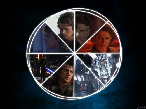 Star Wars wallpaper probably with a roulette wheel titled Star Wars Saga Wallpapers