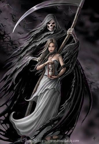 Anne Stokes Hintergrund called Summon the Reaper
