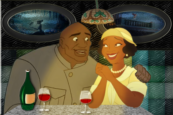 Tiana's mother and Dr Sweet from Atlantis