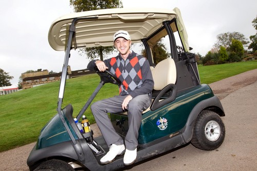 Tom Felton on the golf course from the Celtic Manor Resort