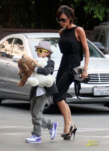 Victoria and her son Romeo