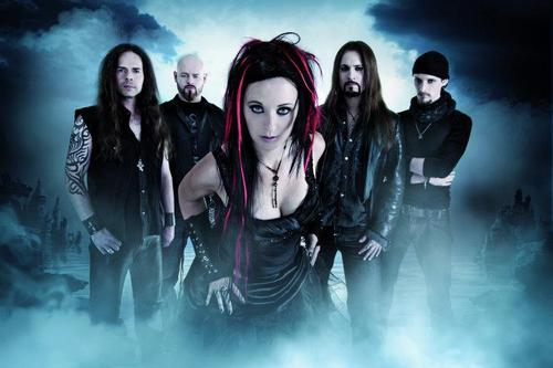 a promotional foto of Xandria from the tahun 2011