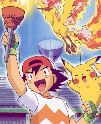 ash with moltres fire torch