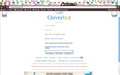 cleverbot convo