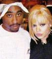 faith and 2pac shakure  - faith-evans photo