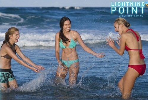 Lightning Point wallpaper probably with a bikini and a bather called girls at the the beach
