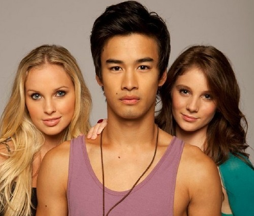 Dance Academy wallpaper with attractiveness and a portrait entitled kat,christian & tara