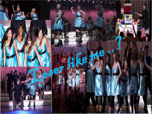 Glee wallpaper entitled loser like me..?
