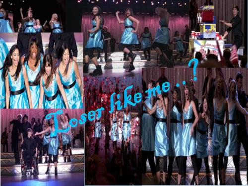 Glee wallpaper titled loser like me..?