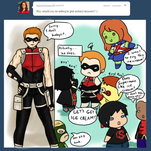 red arrow DOES NOT babysit