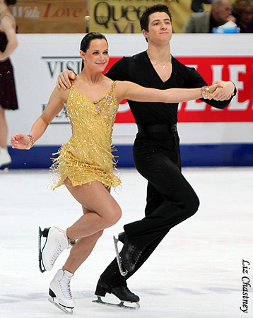 Tessa Virtue & Scott Moir wallpaper probably containing a hip boot titled 2011 World Figure Skating Championships - Free Dance