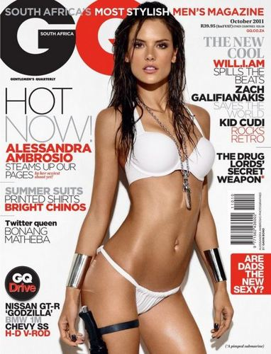 Alessandra Ambrosio for GQ South Africa October 2011