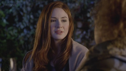 Amy Pond দেওয়ালপত্র containing a portrait titled Amy Pond - 6x13 - The Wedding Of River Song