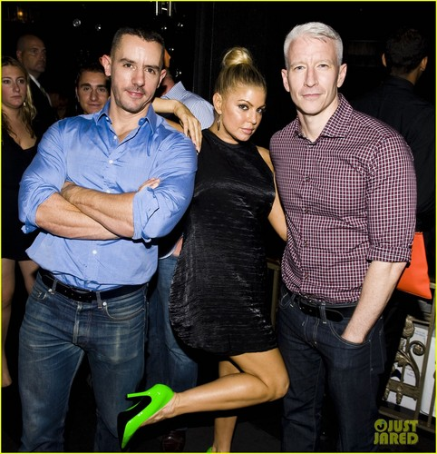 Anderson Cooper & Ben Maisani: BEP Party with Fergie! - fergie Photo