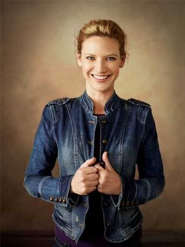 Anna Torv wallpaper probably containing an outerwear, a well dressed person, and long trousers titled Anna Torv ~ 2011 Faces Of volpe Photoshoot