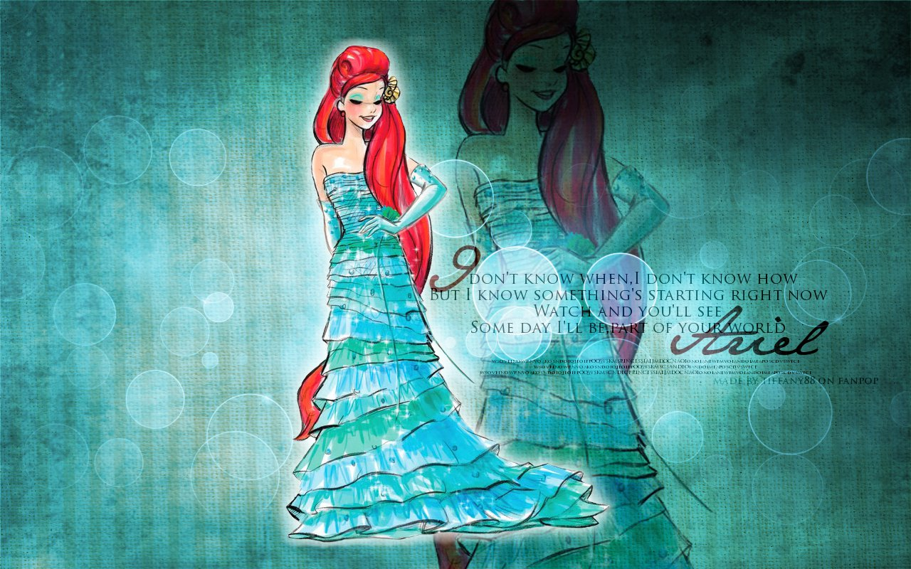 ariel disney princess wallpaper 25773746 fanpop
