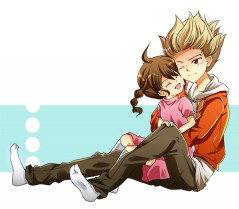 Axel Is with is little sister
