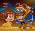 BEAUTY AND THE BEAST CHIBI - belle fan art