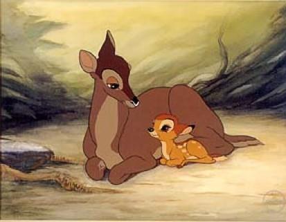 Disney Parents karatasi la kupamba ukuta possibly containing anime entitled Bambi and his mother