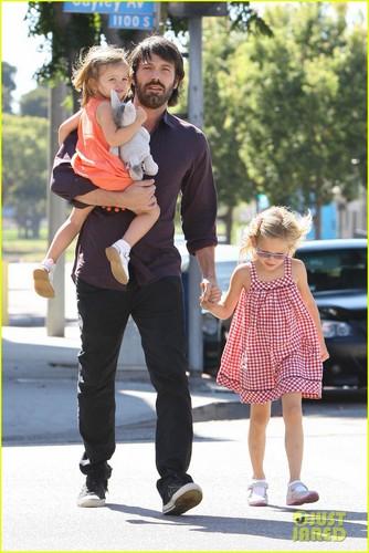 Ben Affleck: Westwood With Seraphina & Violet!